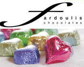 Fardoulis Chocolate Foiled Hearts