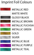 Foil print colours