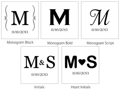 Burlap Bag Monogram options