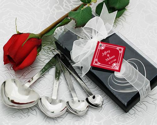 Love Beyond Measure Heart Shaped Measuring Spoons-Heart Shaped Measuring spoons, love beyond measure, unique bomboniere, measuring spoons, wedding bomboniere, bonboniere, cute bomboniere