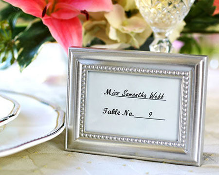 Beautifully Beaded Photo Frame / Placecard holder-Bomboniere, bonboniere, photo frame, silver photo frame, place card holder, wedding gift, wedding bomboniere, unique bomboniere