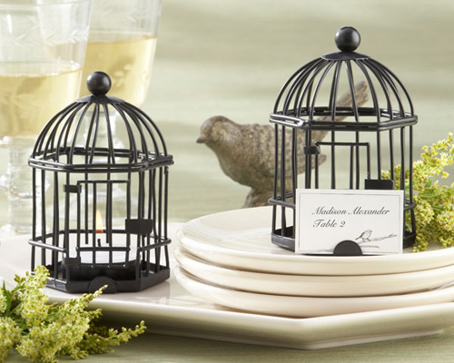 """Love Songs"" Birdcage Tea Light/Place Card Holder-Birdcage, tea light, place card holder, bomboniere, wedding"