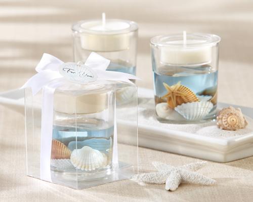 """Seashell"" Gel Tealight Holder Candle Wedding Favour-Seashell Gel Tealight Holder Candle Wedding Favour, beach wedding favour, beach candle wedding bomboniere, seashell bomboniere"