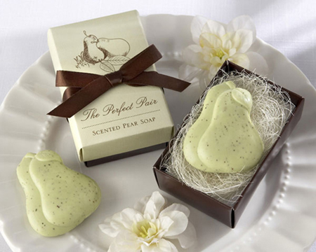 """""""The Perfect Pair"""" Scented Pear Soap-The Perfect Pair Scented Pear Soap, soap, bomboniere, wedding"""