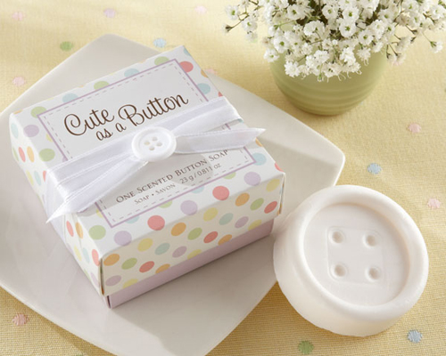"""Cute as a Button"" Scented Button Soap-Cute as a Button Scented Button Soap, Soap, Bomboniere, Baby Shower"