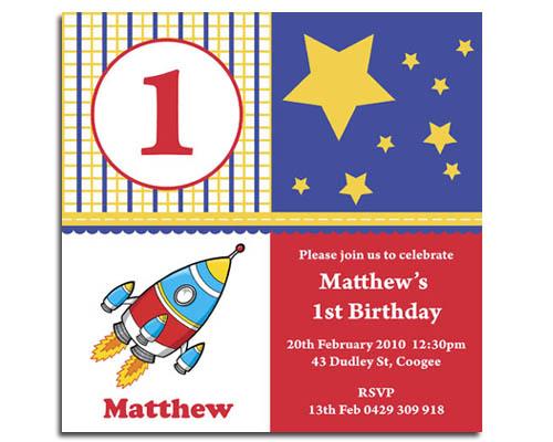 Square Rocket Birthday Invitation-Rocket Birthday invitation, first birthday invitation, Square birthday invite, space birthday invitation