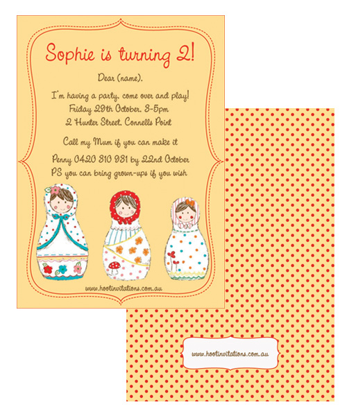 Babushka Birthday Invitation-Babushka birthday invitation, babushka invitation,