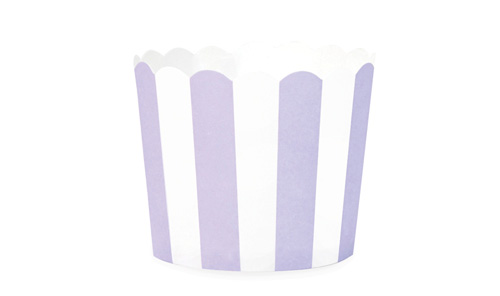 Paper Eskimo Lilac Berry Stripes Baking Cup Cupcake wrapper-Lilac and white stripe cupcake wrapper, paper eskimo lilac berry stripes baking cup, purple themed party, purple and white theme,