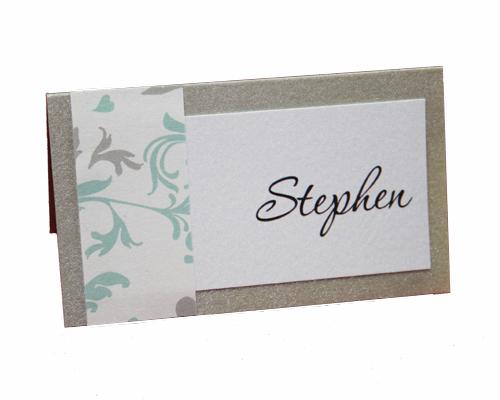 Bella Sweetheart Platinum Place Card-Platinum place card, bella sweetheart place card, gorgeous place card, different place cards, unusual place cards, unique place cards