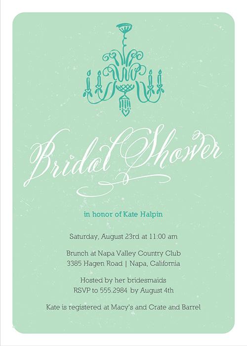 Bridal Shower Chandelier invitation Mint Green-bridal shower invitation, Bridal shower invite, mint green bridal shower, mint green wedding