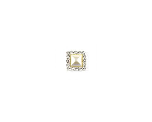 Diamante Cluster Square - Ivory Pearl-Diamante and Pearl Cluster, Square cluster, Pearl cluster, diamante cluster, diamante embellishment, pearl embellishment, invitation decoration, unique invitations, wedding invitation, bomboniere, bonbonniere, paperglitz