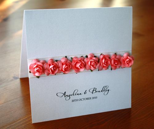 Elegant Rose Invitation-Paper Rose invitation, wedding invitation, wedding invite, engagement invitation, boxed invitation