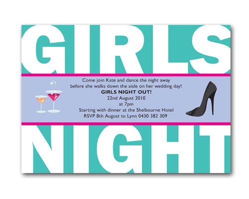 Girls Night Out - Hens Night Invitations-bachelorette invitations, bachelorette party invitations, bachelorette invitation ideas, bachelorette shower invitations, unique bachelorette invitations  Wedding Bachelorette Party Invitations, Girls Night Out invitation, hens invitation, hens party invitation