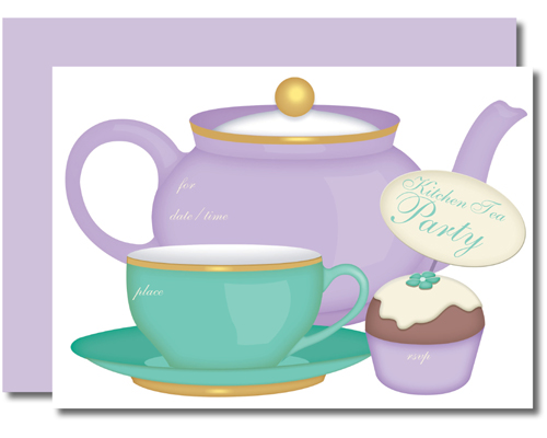 Lil Vites Kitchen Tea (Pack of 8)-Lil Vites Kitchen Tea Fill In invitations, fill-in invitations, diy invitations, bridal shower, kitchen tea, bridal shower invites, kitchen tea invites