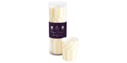 Paper Eskimo Limoncello Baking Cup Cupcake Wrapper-Paper Eskimo Limoncello Baking Cup Cupcake Wrapper, yellow stripe Cupcake Wrapper, Birthday Party Cupcake Wrapper, yellow theme party, yellow Cupcake Cases, Girls party cupcake Wrapper, baby shower cupcake wrapper