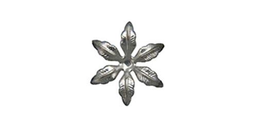 Silver Metallic Flower 35mm (Pack of 10)-Silver Metallic Flower 35mm, Embellishment, diy invitations, wedding invitations, craft flower