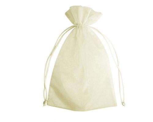 Organza Bag Ivory (Pack of 10)-Organza bag, chiffon bag, ivory organza bag, high quality organza bag, premium organza bag, wedding favour, wedding bomboniere, christening favour, christening bonbonniere, vandoros organza bag, jewellery organza bag, bonbonniere, bombonniere, bomboniere