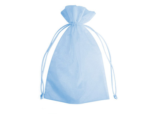 Organza Bag Baby Blue (Pack of 10)-blue Organza bag, blue chiffon bag, baby blue organza bag, premium organza bag, blue wedding favour, blue wedding bomboniere, christening favour, christening bonbonniere, vandoros organza bag, jewellery organza bag, bonbonniere, bombonniere, bomboniere, boys bomboniere