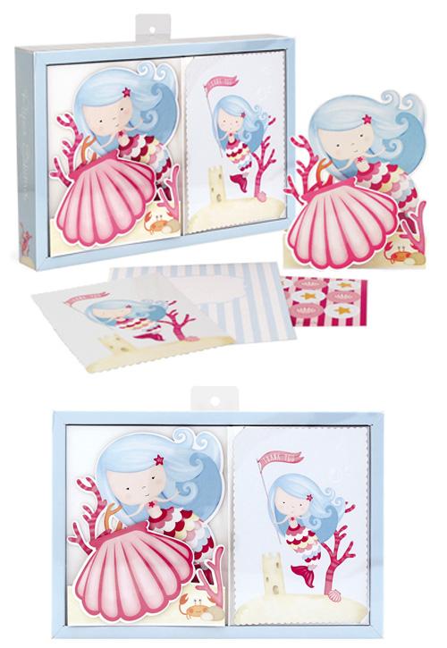 Paper Eskimo Princess Mermaid Poppit Birthday Invitations Pack of 12