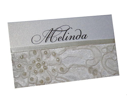 French Beaded Lace Place Card-Place Card, Wedding place card, lace place card, french beaded lace place card, placecard, Unique place card, Wedding name card, lace table setting