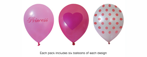 Paper Eskimo Princess Girl Balloons-pink party balloons, Paper Eskimo Pricess Girl Balloons, helium balloons, girls party balloons, princess party balloons, pink balloons