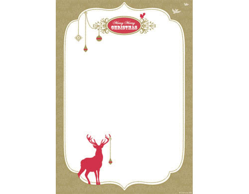 Cristina Re Christmas Invitation Red Deer (25/pack)-Christmas Invitation, Cristina Re Christmas invitation, Cristina Re Red Deer A4 Invitation, Christmas letter paper