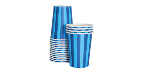 Paper Eskimo Sherbet Blue Party Cup-Paper Eskimo Sherbet Blue Party Cup, blue paper cup, Birthday Party cups, blue theme party, blue stripe cups, boys party cups, baby shower cups