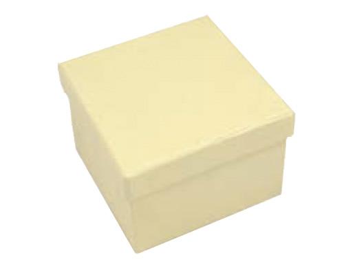 Square Hard Box 7.5cm Cream-Square solid box, bomboniere box, box with lid, rigid bomboniere box, hard gift box, cream box, christening bomboniere, diy box, wedding bomboniere, bonbonniere box