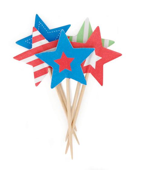 Paper Eskimo Superstar Cupcake Topper-Paper eskimo cupcake topper superstar, superstar cupcake flags, boys party cupcake topper, star cupcake topper