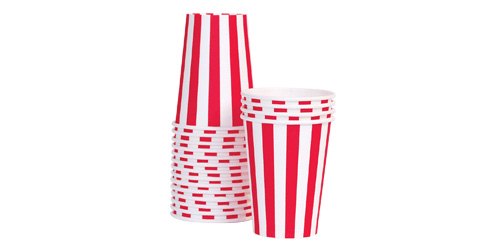 Paper Eskimo Candy Cane Red Striped Party Cup-red and white striped paper cup,  red striped cups, party, birthday, shower, red, cowboy, vintage surf, ladybug, cherry