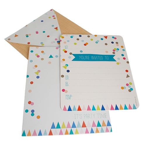 HiPP invitation kit Confetti Rainbow party-rainbow confetti invitation, confetti invitation, confetti invite,