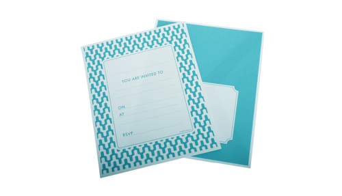 HiPP Invitation kit - Habitat Teal (Pack of 25)-HiPP Invitation Kit Habitat Teal, turquoise invitation, engagement invitation, teal birthday invitation, turquoise birthday invitation, fill in invitation