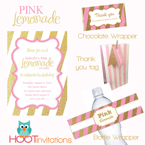 Pink Lemonade Party Printables-Pink lemonade party, pink and gold party pink lemonade printables