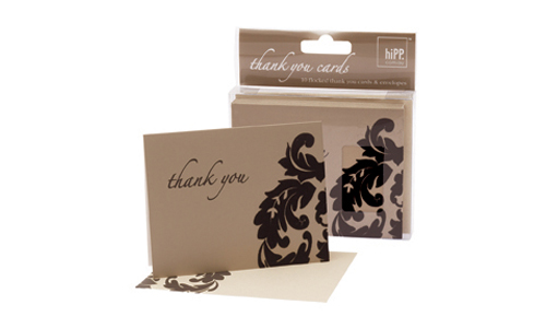 Thank you card Baroque Gold HiPP-Thank you notes, thank you cards, wedding thank you, engagement thank you, gold thank you, Hipp thank you