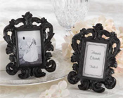 """Black Baroque"" Elegant Place Card Holder/Photo Frame-Photo frame bomboniere, wedding bomboniere, black frame bomboniere, unique bomboniere, place card holder picture frame, Picture frame bomboniere,