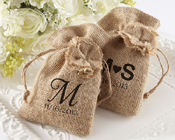 Rustic Renaissance Burlap Hessian Favor Bag (set of 12)-burlap bag, hessian bag, burlap favour bag, hessian favour bag, personalied burlap bag, personalized burlap bag, burlap wedding favor,