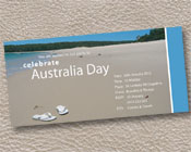 Flip Flops on the beach Australia Day Invitation-Australia Day invitation