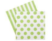 Paper eskimo Apple Green Napkins-Paper Eskimo apple green Napkins, green and white Party Napkins, spot Party Napkins, Christmas Napkins, green stripe Serviettes, green spot Serviettes