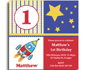 Square Rocket Birthday Invitation-Rocket Birthday invitation, first birthday invitation, Square birthday invite, space birthday invitation