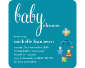 Sweet Mobile Baby Shower Invitation-Baby Shower Invitation, Blue baby shower invitation, boy baby shower invitation, gender neutral baby shower invite,