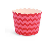 Paper Eskimo Berry Pink Chevron Baking Cup Cupcake Wrappers-pink baking cup, Paper Eskimo Berry Pink Chevron Baking Cup Cupcake Wrappers, dark pink chevron cupcake wrapper, deep pink baking cup, pink chevron cupcake wrapper