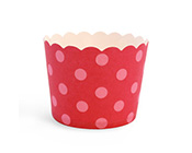 Paper Eskimo Berry Pink Spots Baking Cup Cupcake wrapper-pink spot baking cup, pink cupcake wrapper, pink patti pan, hot pink baking cup