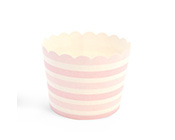 Paper Eskimo Pink Blush Stripe Baking Cup Cupcake Wrapper-Paper Eskimo Pink Blush Stripe Baking Cup Cupcake Wrapper, pink stripe cupcake Wrapper, pink stripe baking cups, little girls party
