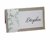 Bella Sweetheart Platinum Place Card-Platinum place card, bella sweetheart place card, gorgeous place card, different place cards, unusual place cards, unique place cards