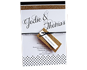Black and Gold Glitter invitation-Gold glitter invitation, black and gold invitation, glitter wedding invitation