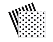 Paper Eskimo Black Tie Napkins-Paper Eskimo black tie Napkins, black & white Party Napkins, spot Party Napkins, party Napkins, black & white Serviettes