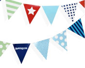 Paper Eskimo Party Flags Boys-Paper eskimo Party flags, boys party flags, paper bunting