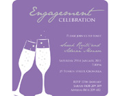 Engagement Invitation - Champagne Glasses-Engagement Invitation, Purple engagement invitation, champagne glass invitation, wedding invitation, unique invitation, modern engagement invitation.