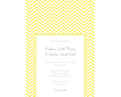 Chevron Wedding Invitation - Yellow-Yellow chevron invitation, chevron wedding invitation, engagement chevron invitation, modern yellow invitation