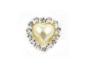 Diamante & Pearl Cluster Heart - Ivory Pearl-Diamante and Pearl Cluster, Heart cluster, Pearl cluster, diamante cluster, diamante embellishment, pearl embellishment, invitation decoration, unique invitations, wedding invitation, bomboniere, bonbonniere, paperglitz